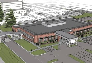 Rendering of planned primary care clinic for the Vancouver VA campus.   Courtesy of Portland VA Medi