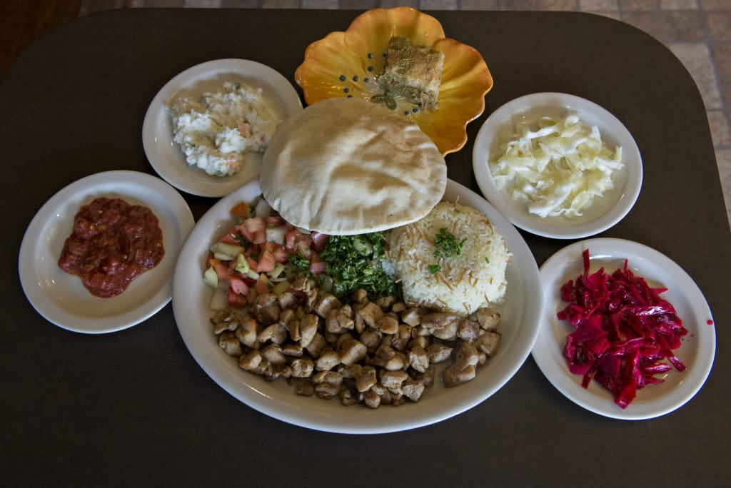 Charming A Chicken Shawarma Dinner, Center, Is Served At The Pita House In Battle  Ground Along With House Spicy Sauce, Clockwise From Bottom Left, House  Potato Salad ...