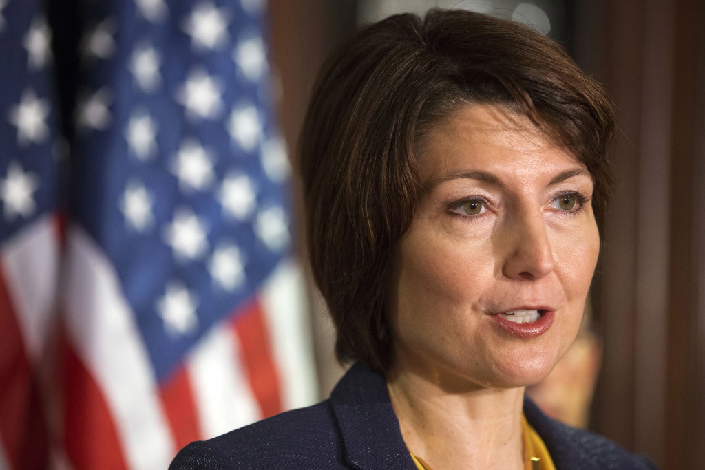 Rep. Cathy McMorris Rodgers speaks to reporters following
