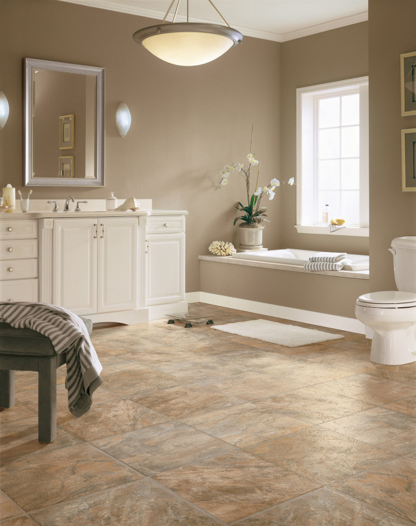 Luxury Vinyl Is Water Resistant And Easy To Clean Making It Ideal For Bathrooms