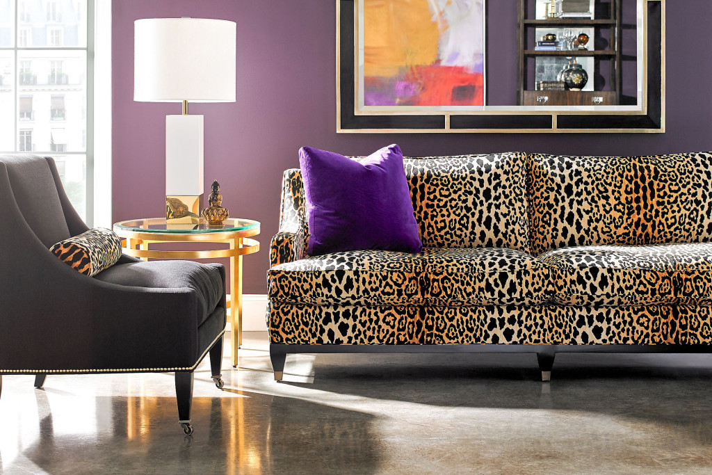 The Drake Sofa By Lillian August For Hickory White In A Bold Leopard Print.  (Patricia Sheridan/Pittsburgh Post Gazette)