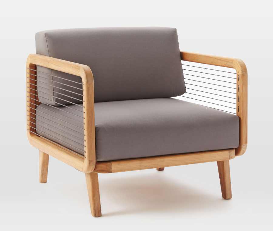 The Contemporary John Vogel Outdoor Lounge Chairs ($999, Westelm.com) Would  Fit Well In An Outdoor Lounging Space. (West Elm)