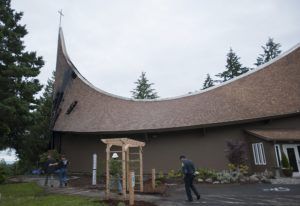 Fire damaged the First Congregational United Church of Christ on Wednesday morning n Hazel Dell. (Am