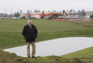 Bill Iyall, chairman of the Cowlitz Tribe, is pictured near the new Ilani Casino Resort near La Cent
