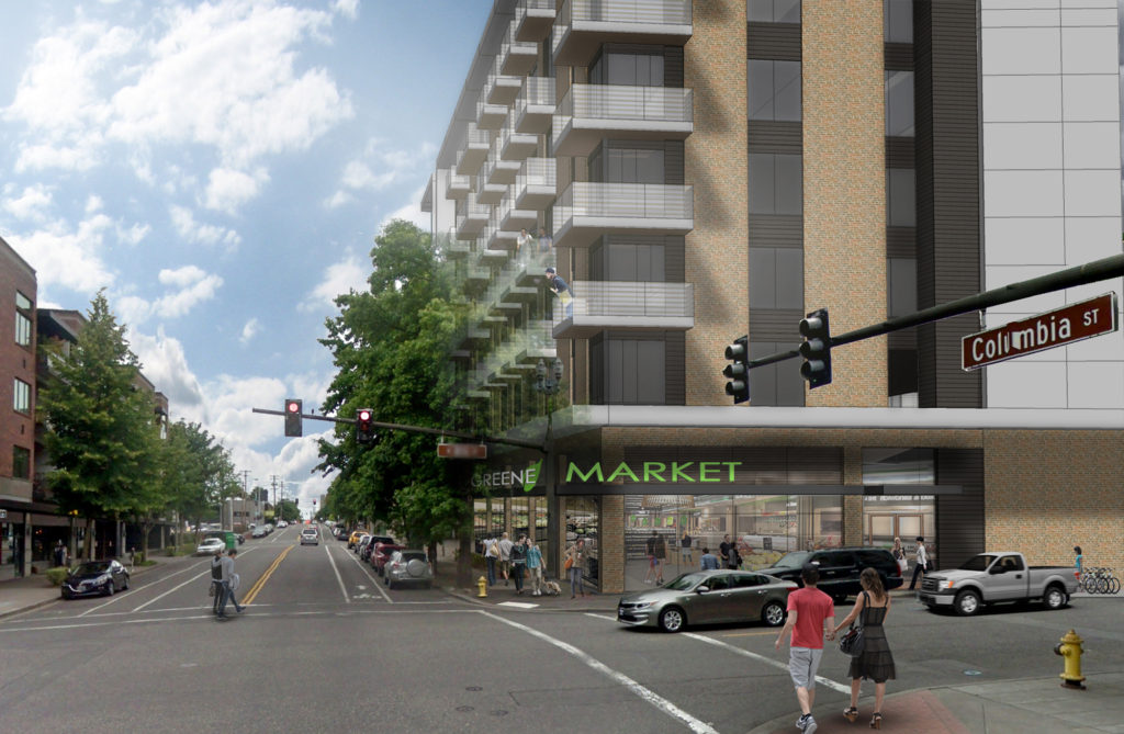 Gramor's proposal for Block 10 in Vancouver would include a 250-unit  apartment building with ground-floor retail — including a grocery store —  as well as ...