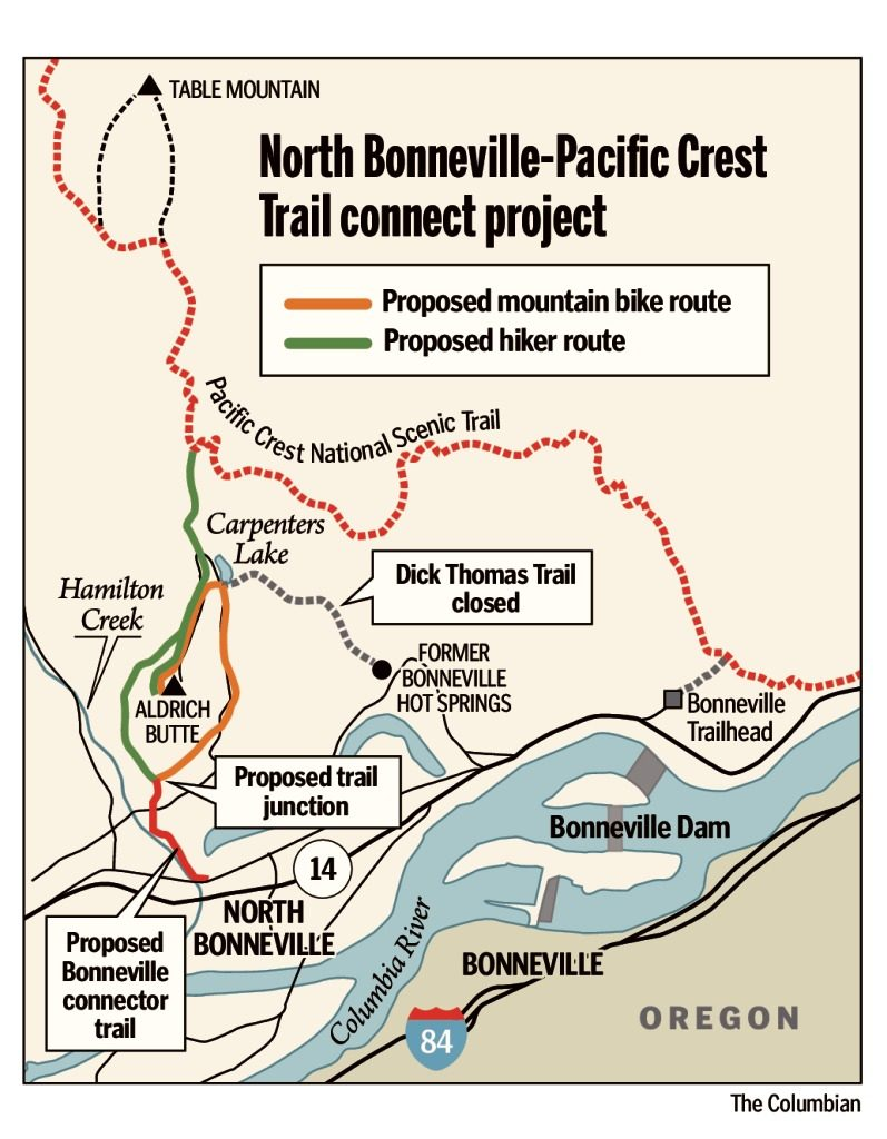 Trailhead closure adds challenge for hikers the columbian north bonneville easy access for hikers to popular table mountain and aldrich butte trails in the columbia river gorge is no longer available as a result publicscrutiny Image collections