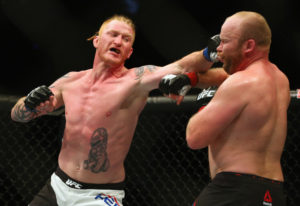 At nearly 37 years old, Ed Herman, left, knows the end of his competitive days in mixed martial arts