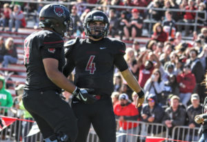 Central Washington quarterback Reilly Hennessey (4) has thrown for 2,286 yards and 26 touchdowns whi