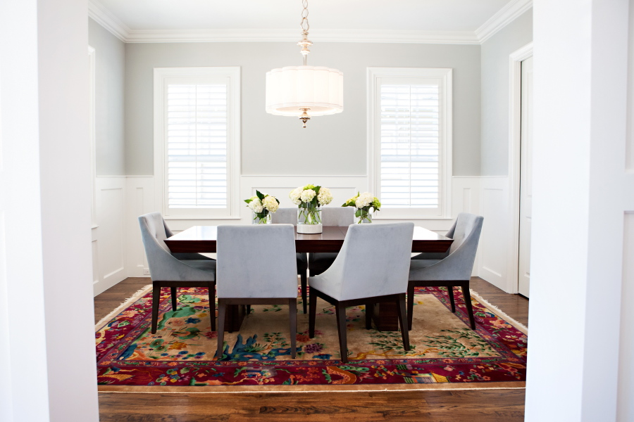 In Dining Rooms Without Drapes, Upholstered Chairs And A Soft Rug Can Bring  A Sense Of Warmth That Makes Holiday Entertaining Even More Appealing, ...