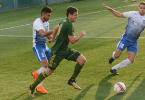 "Foster Langsdorf makes his home debut with the Portland Timbers USL affiliate ""T2"" squad a"