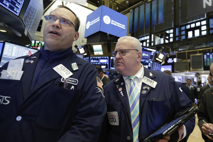 Stocks climb higher after early plunge on trade war fears