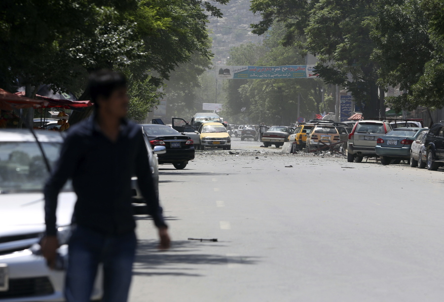 Bombings and gunfire hit the Afghan capital
