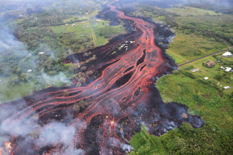 Lava Flows Saturday From Fissures Near Pahoa, Hawaii. Kilauea Volcano Began  Erupting More Than Two Weeks Ago And Has Burned Dozens Of Homes, Forced  People ...