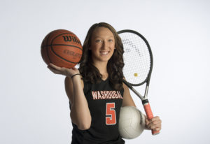 Washougal junior Beyonce Bea, 16, was an all-league selection in volleyball and tennis, and was on t