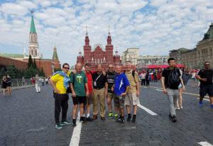 Vancouver-based adult club soccer team members Yuriy Dobrodomov, George Reynolds, Dave Hughes, Kenny
