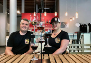 Wes and Michelle Parker of Koi Pond Cellars at their new bistro and tasting room in downtown Vancouv