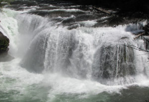 Lower Falls on the Lewis River has become more popular than the site can handle. The U.S. Forest Ser