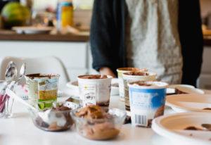 Monika Spykerman, Sue O'Bryan and Columbian food critic Rachel Pinsky sampled eight kinds of vegan i
