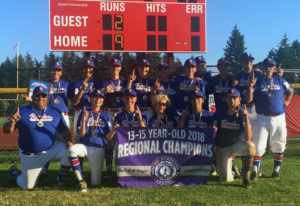 The KWRL Centerfield Roosters won the 13-15 year-old Babe Ruth Pacific Northwest Regional on Saturda