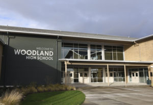 The new Woodland High School opened in 2015. (The Columbian files)