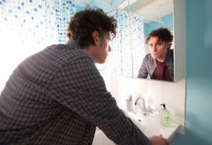 """Stephen Mangan in the BritBox comedy """"Bliss."""" Big Talk Productions"""