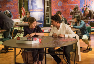 Kelly Macdonald and Irrfan Khan portray partners in a jigsaw-puzzling competition. Linda Kallerus/So
