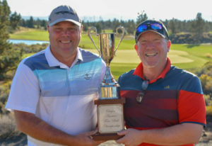 Phil Barricklow of Vancouver and Kirk Schwerzler of Camas, won the Senior Men's division of the Oreg
