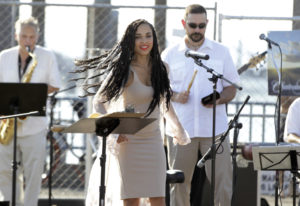 Arlyn Montas of the band Conjunto Alegre performs at the 2017 ¡Viva Vancouver! — the first-ever Lati