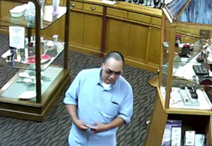 Camas police are looking for this unidentified man, suspected of stealing two engagement rings from