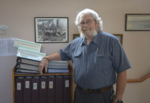 Washougal: Brian McClatchie, board member with the Camas-Washougal Historical Society, poses with re