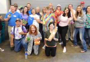 Esther Short: More than 20 volunteers helped out on Aug. 4 at FISH of Vancouver, as the food pantry