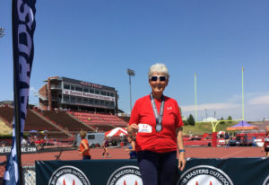 Battle Ground: Janice Bradley, 80, of Battle Ground scored six medals while competing in the USA Tra