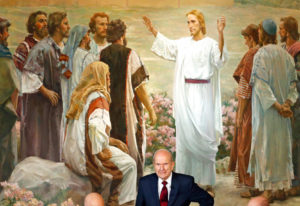 FILE - In this Jan. 16, 2018, file photo, president Russell M. Nelson looks on following a news conf