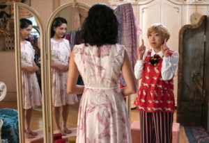 This image released by Warner Bros. Entertainment shows Constance Wu, left, and Awkwafina in a scene