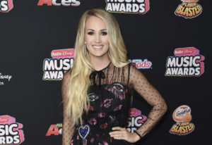 Carrie Underwood attends the 2018 Radio Disney Music Awards in Los Angeles. The 35-year-old singer a
