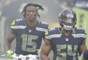 Seattle Seahawks' receiver Brandon Marshall (15) is looking to bounce back from a injury-filled 2017