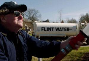 "Michael Moore in the film ""Fahrenheit 11/9."" Toronto International Film Festival"