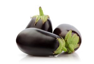 Eggplants are at their best from August through October, when they are in season. iStock