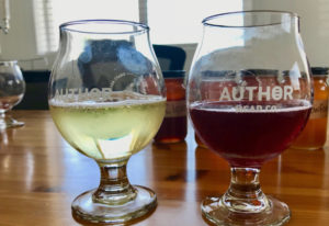 The Semi-sweet Draft Mead, left, and the Raspberry Draft Mead from Author Mead. Photos by Rachel Pin