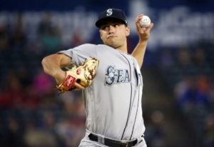 Seattle Mariners starting pitcher Marco Gonzales (32) pitches against the Texas Rangers during the f