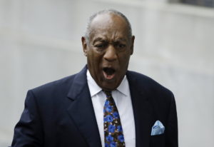 Bill Cosby arrives for his sentencing hearing at the Montgomery County Courthouse on Monday in Norri