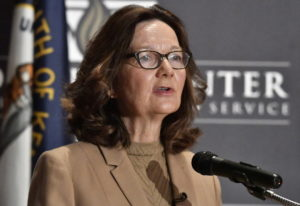 CIA Director Gina Haspel addresses the audience as part of the McConnell Center Distinguished Speake