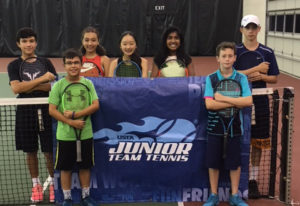 Representing Club Green Meadows at the 2018 Junior Team Tennis Nationals are (from left) Isaac Morri