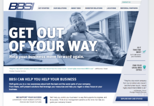 The homepage of Barrett Business Services.