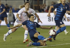 Tobin Heath scores a goal for the U.S. women vs. Chile. Jeff Chiu/The Associated Press