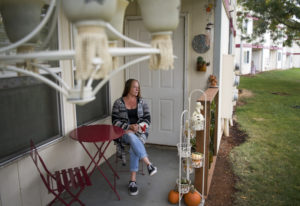 After five years without a home of her own, Clark College student Pati Nadgwick Jeffers was recently