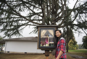 Anna Lee, 13, opened Hockinson's Little Pantry in the Hockinson Community Church parking lot about a