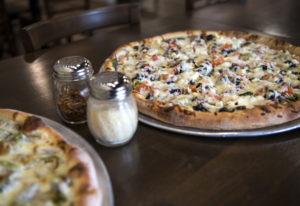 The Leonardo pizza, left, and the Donatello pizza, right, at Vancouver Pizza Company. Alisha Jucevic