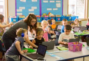 Woodland: Woodland Intermediate School second-grade teacher Amy Craig and her students work on readi