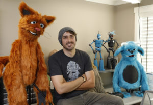 Kevin Gorby of Luna's Puppets in his workshop on Monday. The Battle Ground business worked with a Lo